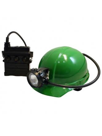 Каска оборудована металлическим адаптером и пластиковым фиксатором для крепления шахтерского фонаря и электрического...